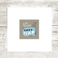 Itty Bitty Take a Nap Card